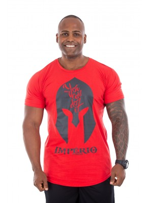Camisa Long Império Fitness You Can Do It Vermelha