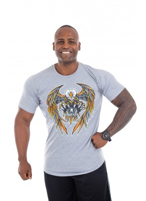 Camisa Long Império Fitness Eagle Mescla